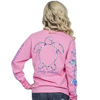 "Simply Southern ""LOGO PRP"" Turtle Long Sleeve Tee"