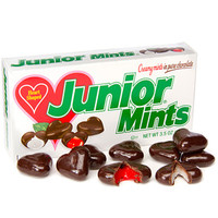 Junior Mints Heart Shaped Candy Theater Packs: 12-Piece Case