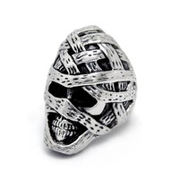 Jewelry Shiny Gift New Arrival King Size Men Titanium Punk Stylish A4 Size Ring [6526791747]