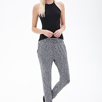 FOREVER 21 Marled Knit Joggers Charcoal