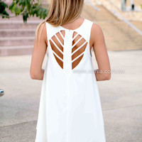 ENDLESS SUMMER DRESS , DRESSES, TOPS, BOTTOMS, JACKETS & JUMPERS, ACCESSORIES, 50% OFF SALE, PRE ORDER, NEW ARRIVALS, PLAYSUIT, COLOUR, GIFT VOUCHER,,White,CUT OUT,SHIFT,SLEEVELESS Australia, Queensland, Brisbane