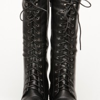 Bamboo Fighter High Length Combat Boot @ Cicihot Boots Catalog:women's winter boots,leather thigh high boots,black platform knee high boots,over the knee boots,Go Go boots,cowgirl boots,gladiator boots,womens dress boots,skirt boots.