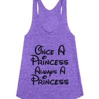 once a princess always a princess-Female Tri Orchid Tank