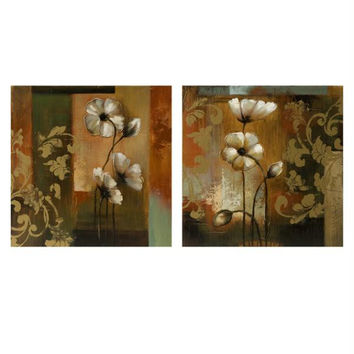 2 Wall Art Canvases - Floral