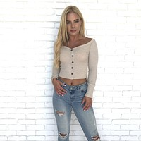 Smile About it Off Shoulder Top