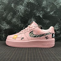 WMNS Nike Air Force 1 '07 PRM Just Do It AF1 Low JDI Pink
