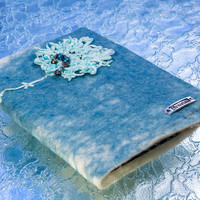 "Beaded Flower ""Dream"" Felted notebook covers, Refillable"