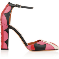 Valentino - Carmen appliquéd leather pumps
