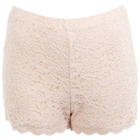 Nude Lace Short - Apparel  - New In