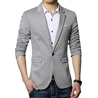 Mens Classic One Button Blazer