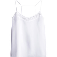 H&M - Woven Tank Top - White - Ladies