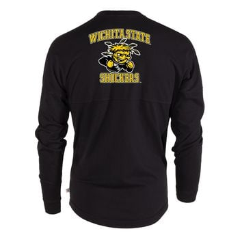 Official NCAA Wichita State University Shockers WU WuShock Women's Long Sleeve Spirit Wear Jersey T-Shirt