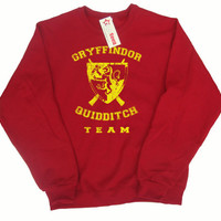 Gryffindor Quidditch Team Pullover Sweater, With Color Choice