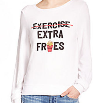 Wildfox - 'Extra Fries' Printed Pullover - Saks Fifth Avenue Mobile