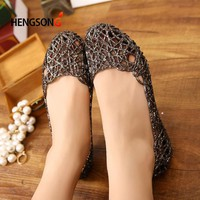 Women's Sandals  Fashion Lady Girl Sandals Summer Women Casual Jelly Shoes Sandals Hollow Out Mesh Flats  23-25cm PA864521