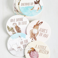 Have a Little Pun Coasters | Mod Retro Vintage Kitchen | ModCloth.com
