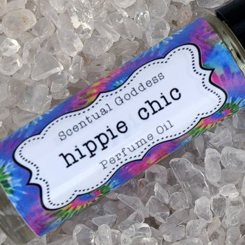 HIPPIE CHIC Perfume Oil - Whimsical Earthy blend of Lavender, Patchouli & Sandalwood