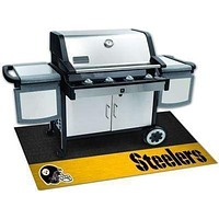 """BBQ Store NFL Pittsburgh Steelers Grill Tailgate Mat 26""""x42"""""""