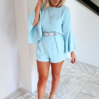 Capture The Heart Romper: Chambray