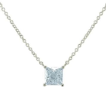 Meg Princess Cut Pendant – 6mm | 1ct