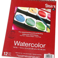 Darice 9-Inch-by-12-Inch 97490-6 Watercolor Sketch Pad (12 sheets)