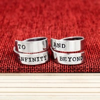 To Infinity and Beyond Ring Set - Best Friends - Frienship Rings - Wrap Ring Set B