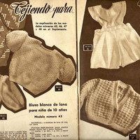 Vintage magazine patterns 1953 from Spain - Patterns included