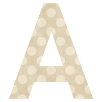 Parcel Polka Dot Patterned Letter Wall Decal