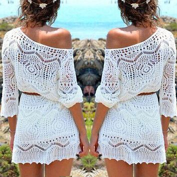 Gorgeous Geneviève Crochet Cover Up, Light Weight