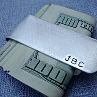 Personalized Money Clip Custom Hand Stamped Aluminum Father's Day Gift Groom's Gift