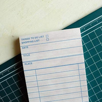 Vintage Check List Memopad / To Do List / Shopping List / 10803272