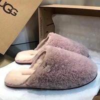 UGG Women Fashion Fur Flats Slipper Shoes