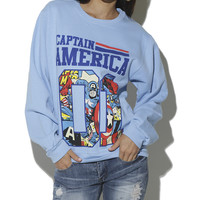 Captain America Athletic Sweatshirt | Shop Just Arrived at Wet Seal