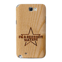 Carved on Wood Effect_Celebrity Hater Full Wrap High Quality 3D Printed Case for Samsung Galaxy Note 2