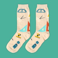 Office Essential Sock | Cream