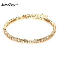Fashion Crystal Tennis Bracelet Zircon Beads Bracelet Bangle Chains Strand Bracelets For Women