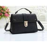 LV hot selling lady's casual shoulder bag fashion solid color embossed shopping bag #1
