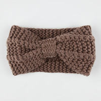Knotted Sweater Knit Headwrap Mocha One Size For Women 26403540301