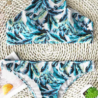Cupshe Cool Summer Leaf Tank Bikini Set