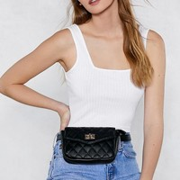 WANT You Haven't Failed Quilted Belt Bag