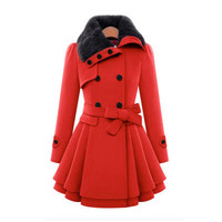 SIMPLE -  Fashionable Winter Buttoned Outwear Coat Overall a12843