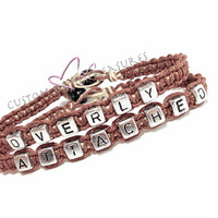Overly Attached Couples Bracelets Brown Hemp