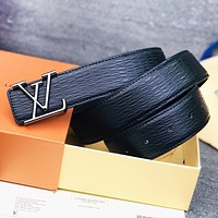 LV Fashion New Letter Women Men Belt Black