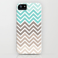 Ocean Chevron iPhone Case by Wicked Cool Studios