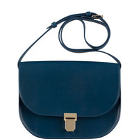A.P.C. Vienne Leather Saddle Bag, Blue