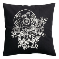 H&M - Cotton Cushion Cover - Black