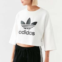 adidas Originals + UO Diamond Jacquard Cropped Tee - Urban Outfitters