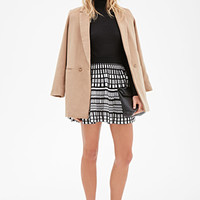 Abstract Windowpane-Patterned Skirt
