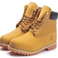 """Timberland"" Boos With Fur Upper Leather Wheat yellow"