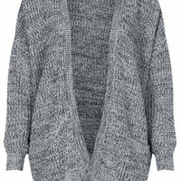 Tweedy Rib Cardigan - Monochrome
